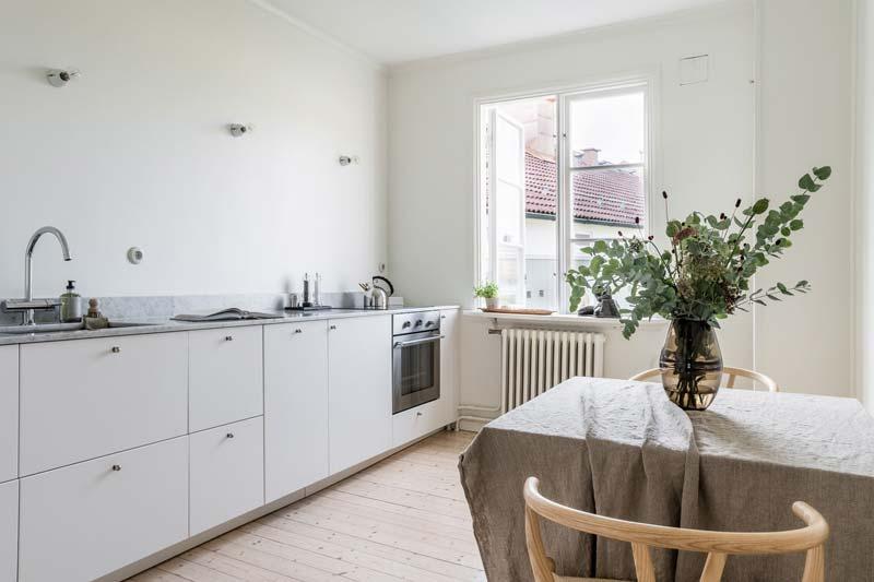 wit geverfde keuken achterwand