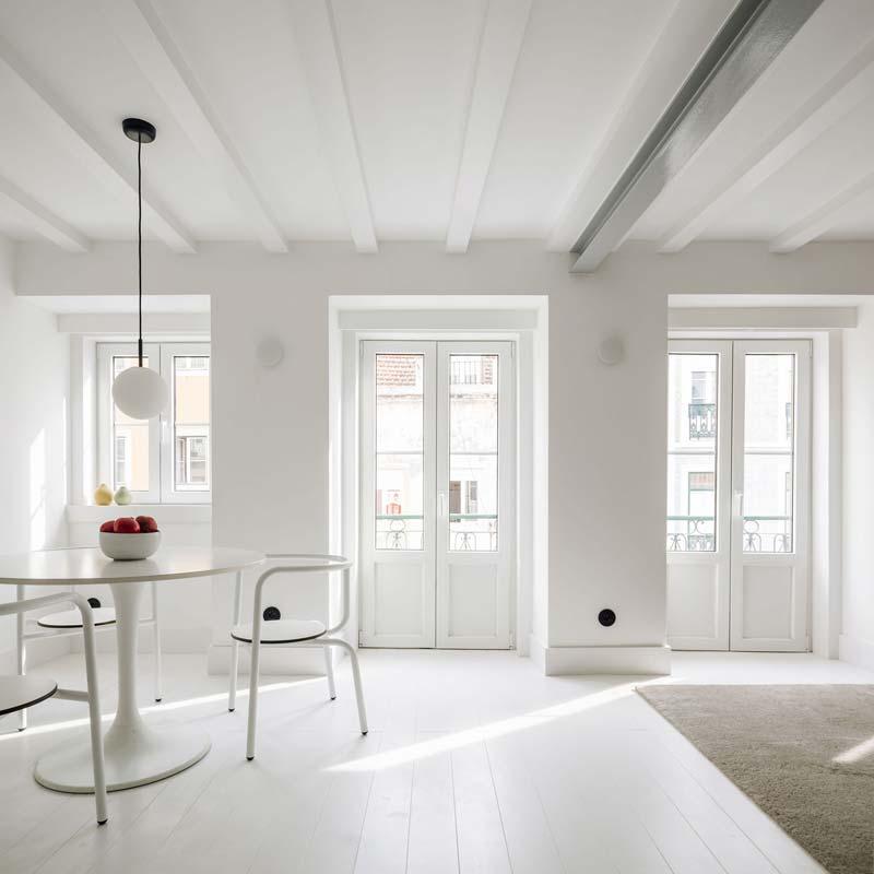Wit interieur appartement