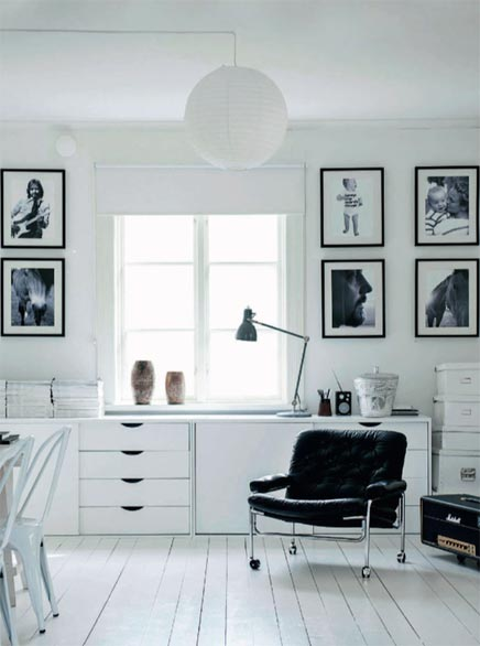 Wit interieur van fotograaf Magdalena Björnsdotter | Inrichting-huis.com