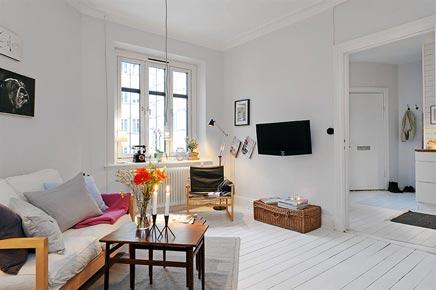 Klein wit huisje in g teborg inrichting for Inrichting kleine woning