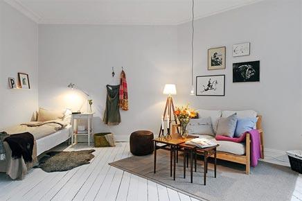 Wit klein huisje in Goteborg