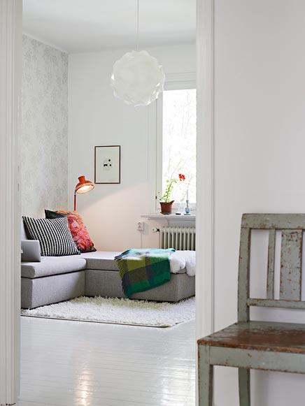 Witte authentieke interieur inrichting uit zweden for Interieur huis