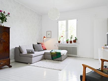 Witte authentieke interieur inrichting uit Zweden