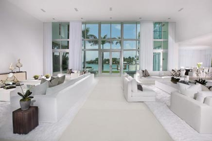 Witte Droomhuis In Miami Beach Inrichting