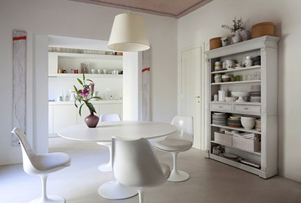 Witte elegante interieur inrichting in Toscane  Inrichting-huis.com