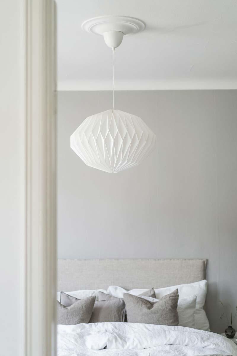 witte hanglamp slaapkamer
