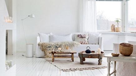 Witte huis inrichting van Noorse interieurstylist