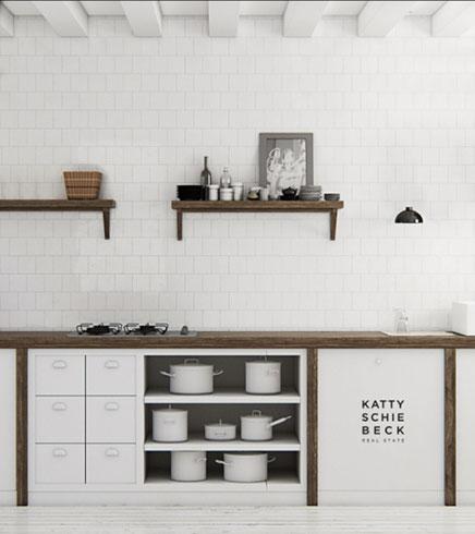 Witte keuken door Katty Schiebeck