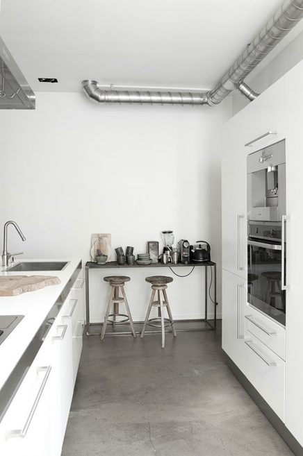 Witte keukenkasten