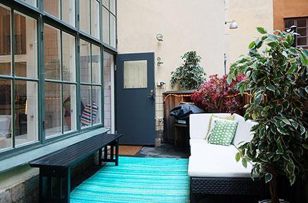 Witte loft in Stockholm