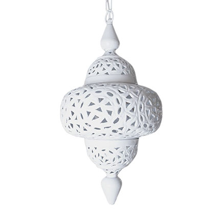 Witte Marokkaanse lampen