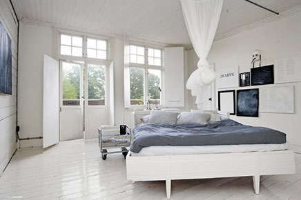 Witte slaapkamer ideeën
