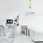 Witte slaapkamer van interieurontwerpster Susanna Vento