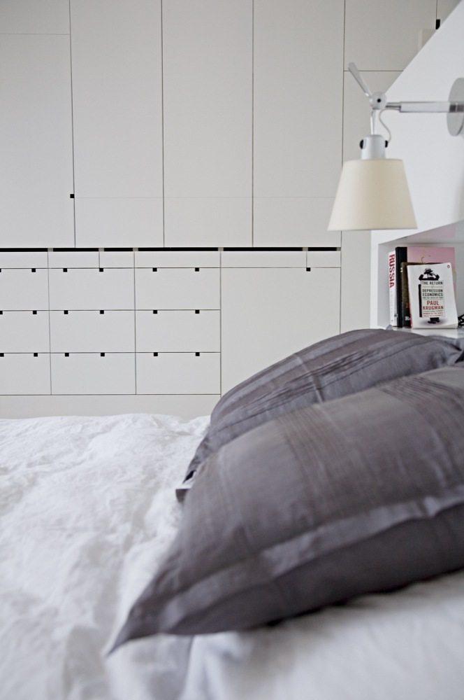 Witte slaapkamer suite van architecte Cathie