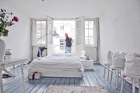 witte vrolijke slaapkamer