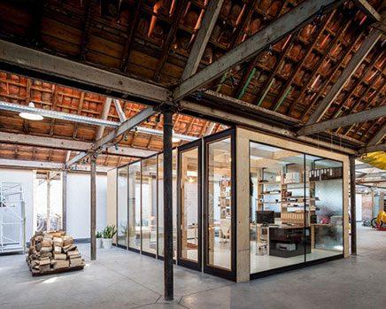 Brandblokken In Huis : Woning en kantoor in voormalig textielfabriek inrichting huis