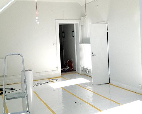 Woninginrichting kleine loft in Stockholm
