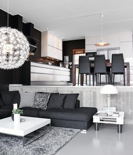 zwart wit woonkamer inrichting ~ lactate for ., Deco ideeën