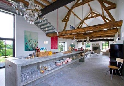 Woninginrichting woonboerderij in Bourgogne Frankrijk