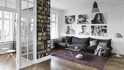 Woonkamer van Deense fotograaf Franne Voigt