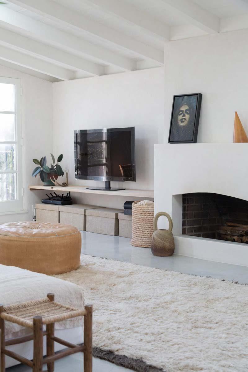 woonkamer ideeën plank als tv meubel