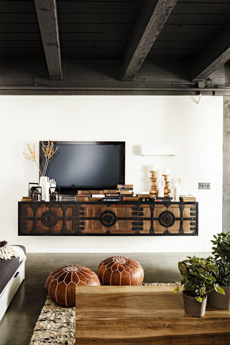 woonkamer ideeen zwevende tv meubel