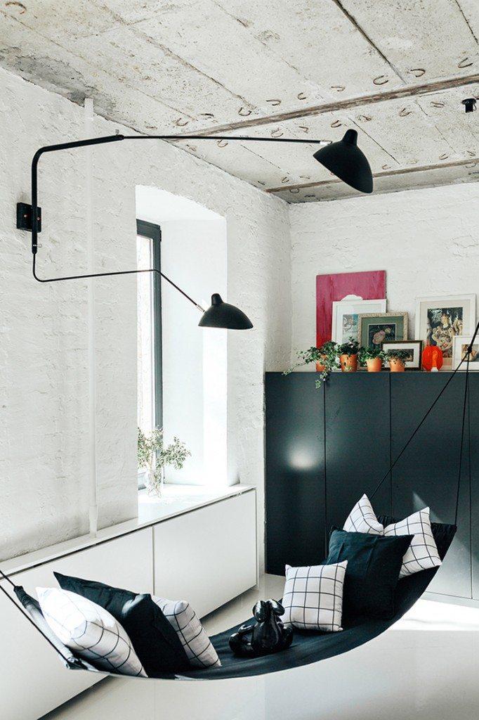 woonkamer inrichten hangmat