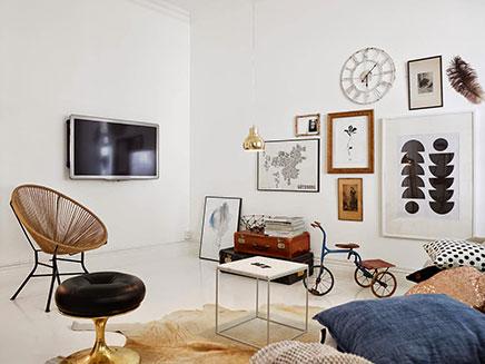 woonkamer inrichting met vintage zithoek inrichting huis