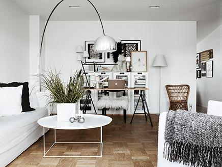 Woonkamer van interieurontwerper Moa Lundberg