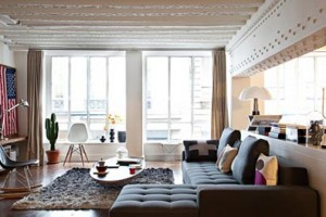 Woonkamer loft appartement David Souffan