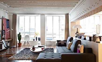 woonkamer loft appartement david souffan | inrichting-huis, Deco ideeën