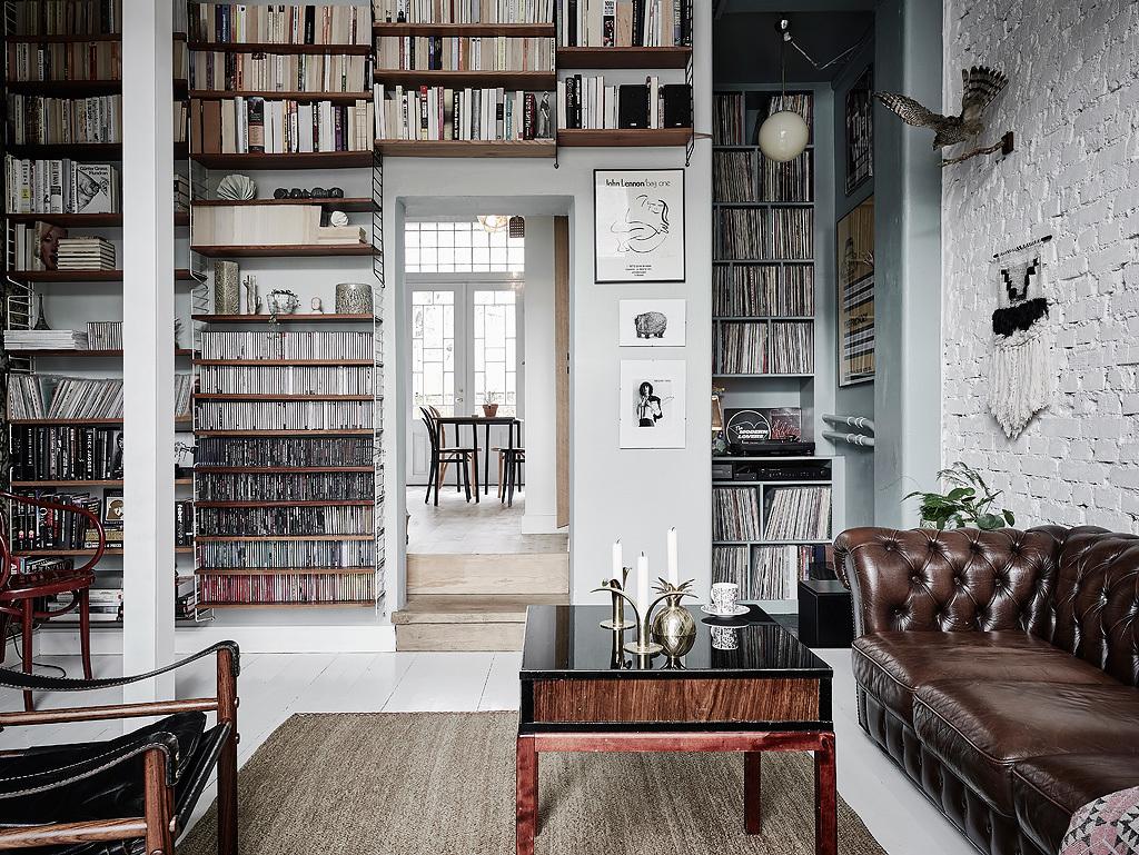 Woonkamer stijlmix van scandinavisch en vintage for Vintage woonkamer