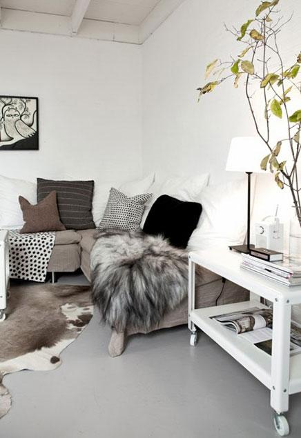 Woonkamer vakantiehuis van stylist Daniella Witte | Inrichting-huis.com