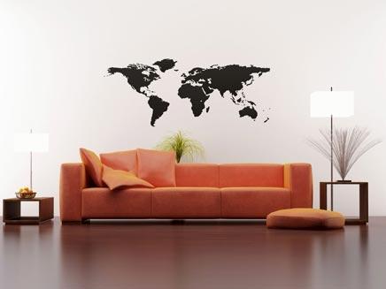 Woonkamer Met Wereldkaart : Woonkamer met wereldkaart inrichting huis
