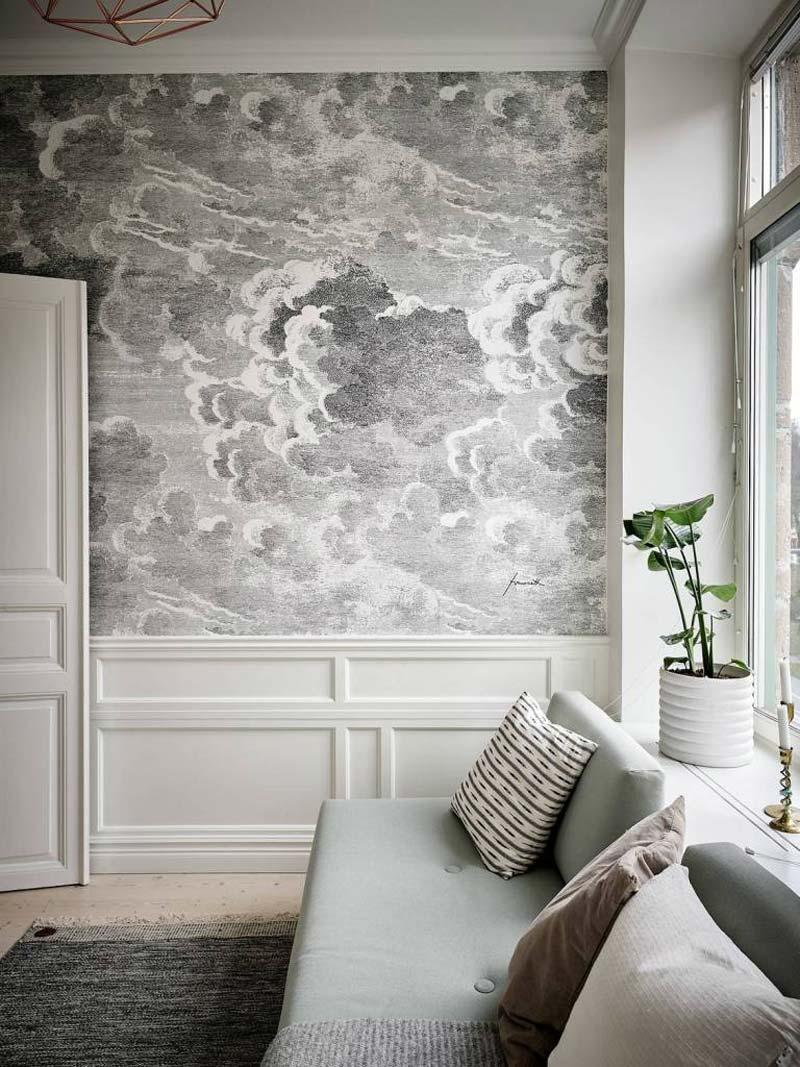 woonkamer wolkenbehang