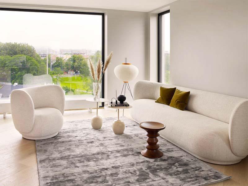 woontrends 2021 ronde vormen rico brushed sofa