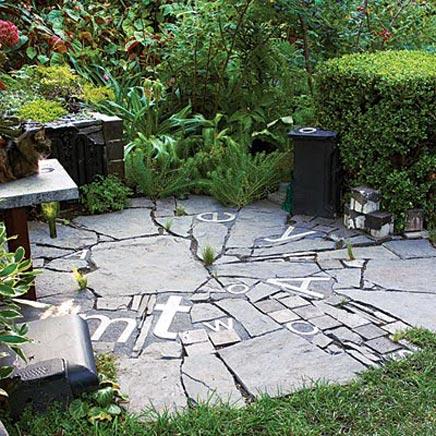 Zithoekje in de tuin