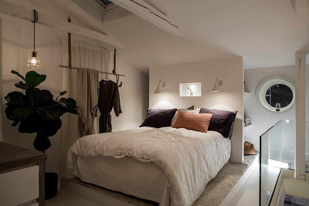 Slaapkamer Op Zolder : Zolder slaapkamer met inloopkast en balkon terras inrichting