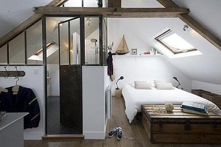 Zolder slaapkamer van Le Masion Matelot | Inrichting-huis.com