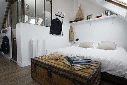 Zolder slaapkamer van Le Masion Matelot