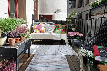 Zonnig en gezellig balkon