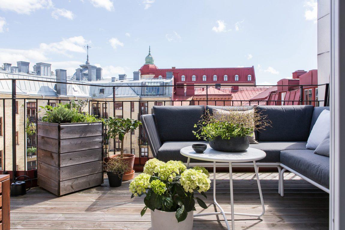 Zonnig ruim balkon terras van 10m2 inrichting - Terras van huis ...