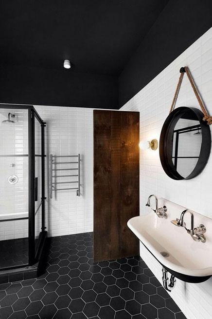 Zwart plafond | Inrichting-huis.com