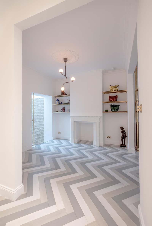 zwart wit grijze visgraat houten vloer