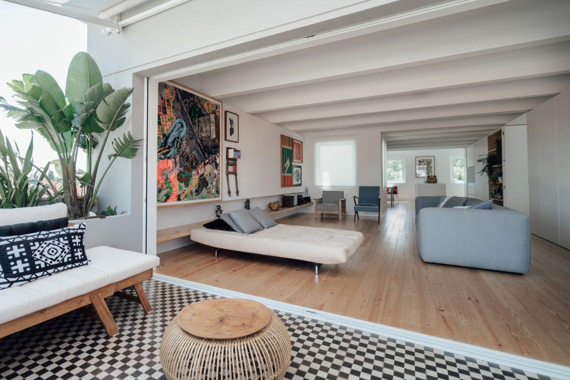 Houten Tegels Balkon : Balkon terras met binnenshuis comfort inrichting huis.com