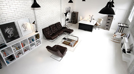 Zwart witte kantoor van Candy Black