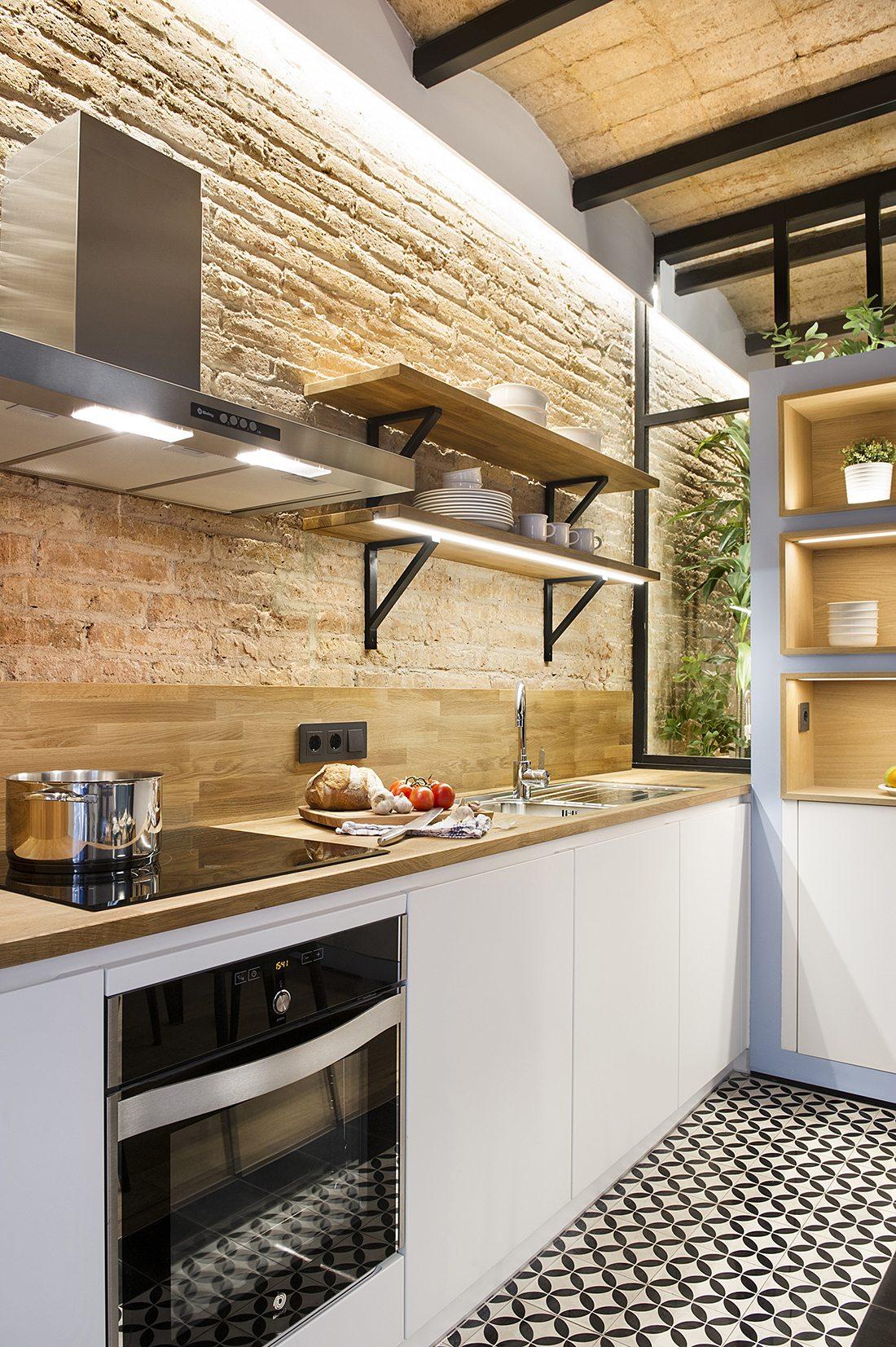 zwart-witte-patroontegels-keuken