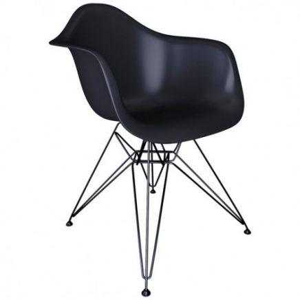 zwarte eames dws stoel