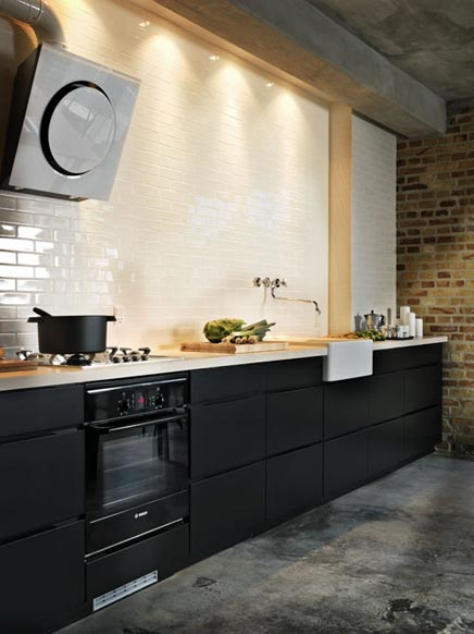 Zwarte Keuken Ikea : Creative Kitchen Backsplash