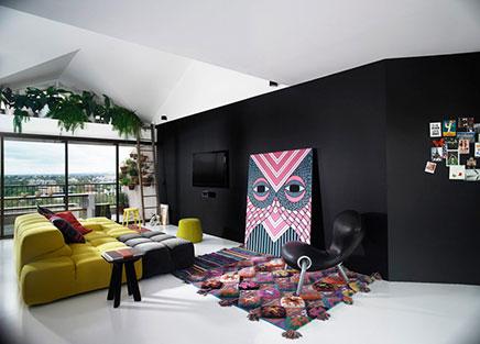 Zwarte Slaapkamer Muur : Zwarte muren inrichting huis